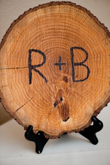 Rustic Wedding Wood Burned Initals