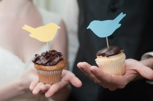 Wedding Cupcake Toppers