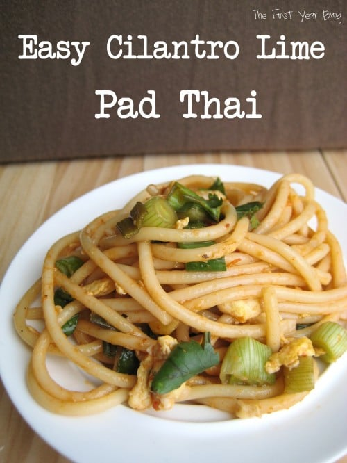 Easy Cilantro Lime Pad Thai