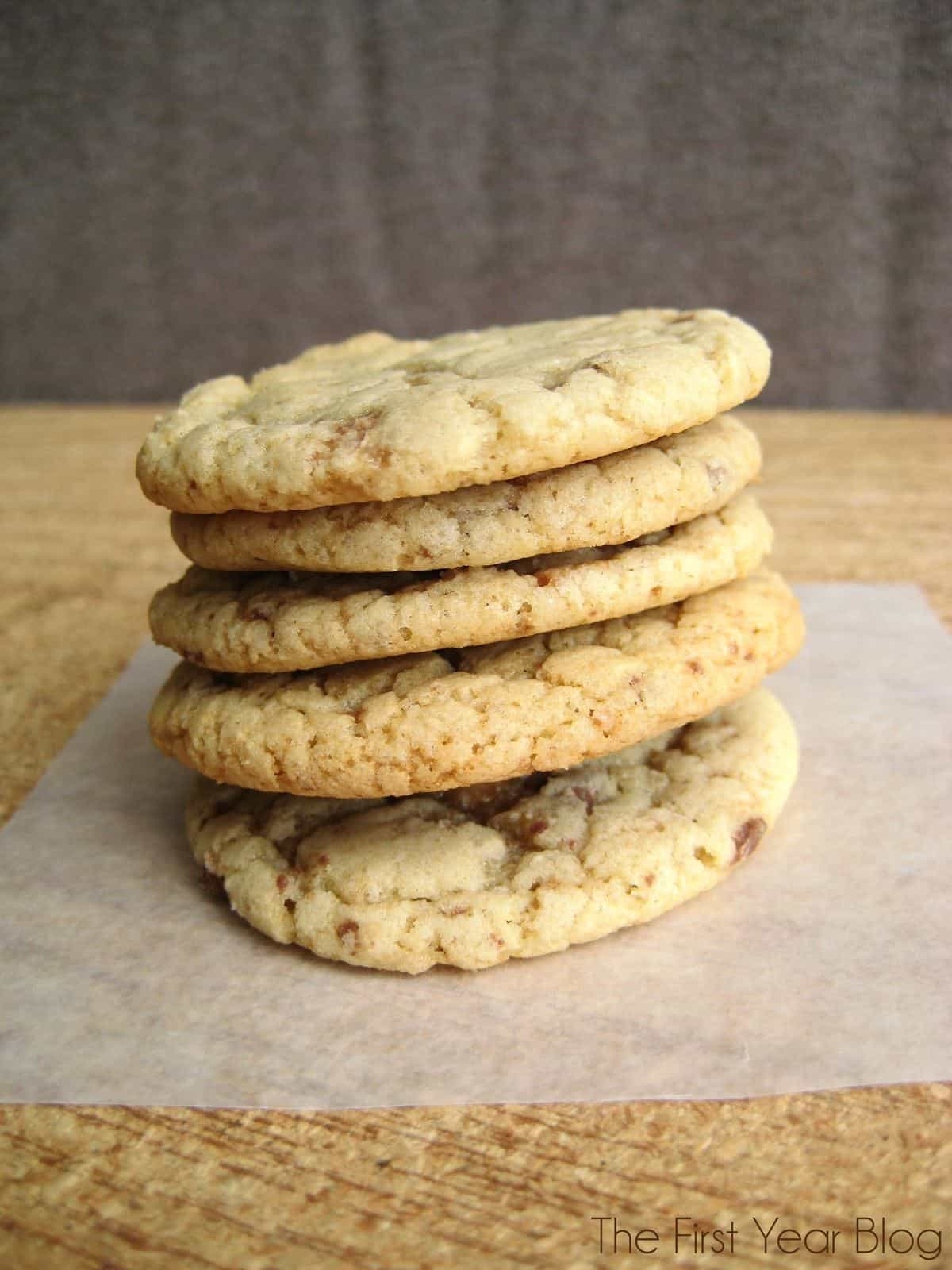 Heath Bar Cookies - The First Year Blog #Cookies