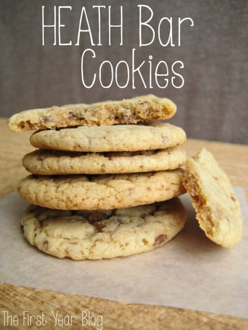 ... bar in a cookie is a wonderful idea, here they are Heath Bar Cookies