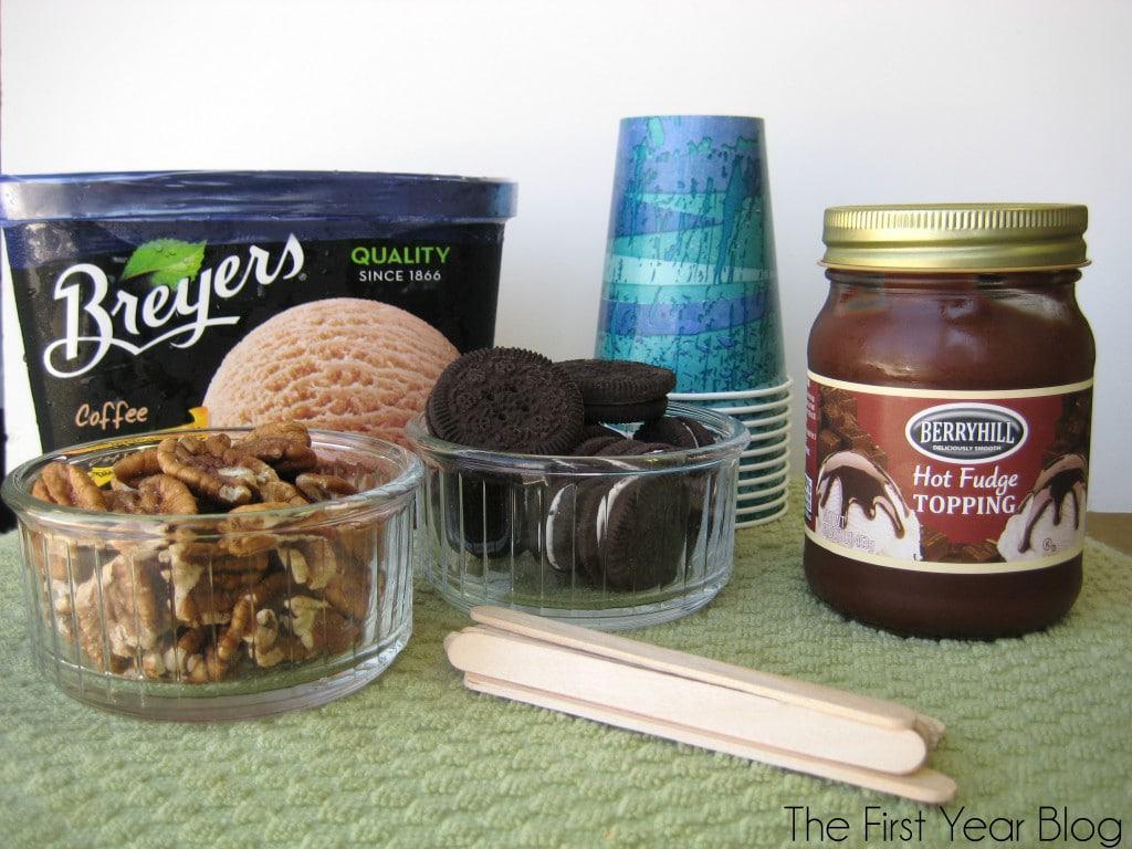 Coffee Oreo Fudge Ice Cream Pops