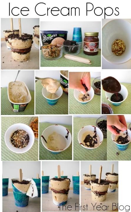 Coffee Oreo Fudge Ice Cream Pops #icecream #popsicles