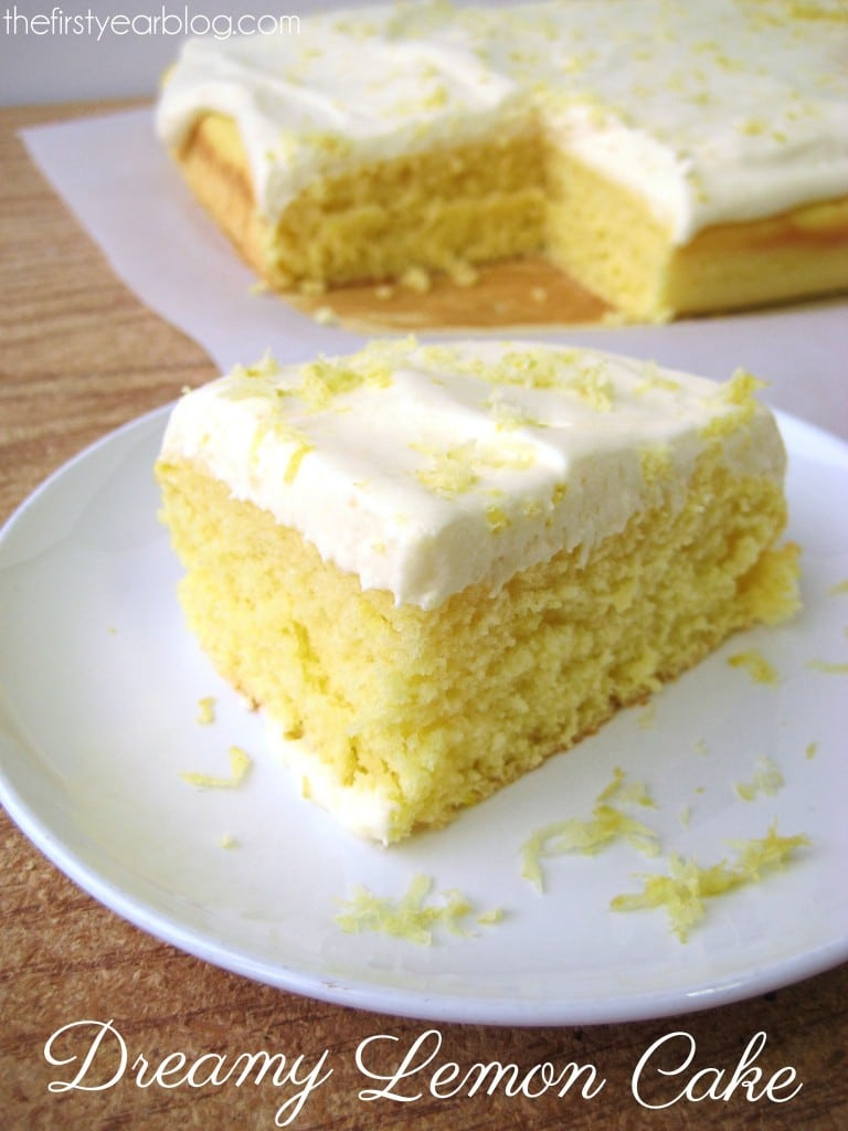 Dreamy Lemon Cake #lemoncake
