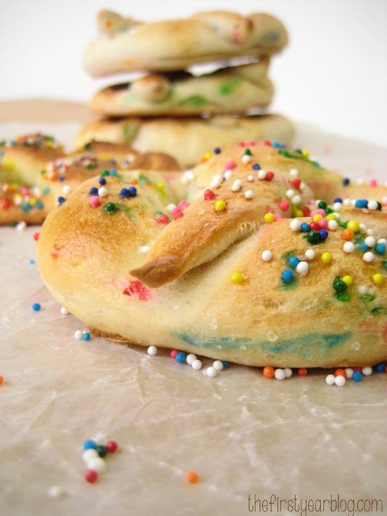 Homemade Funfetti Soft Pretzels
