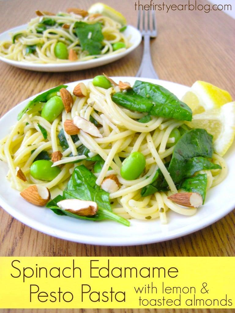 Spinach Edamame Pesto Pasta bold 1
