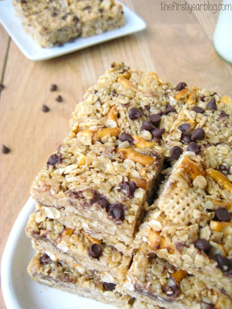 Peanut Butter Pretzel Granola Bars The First Year