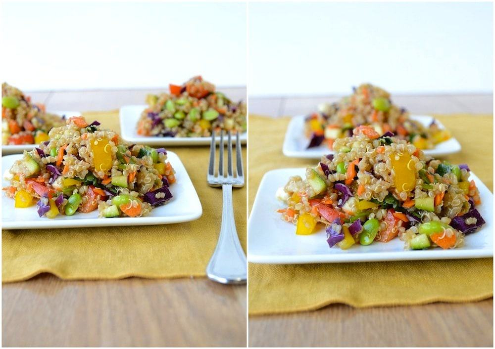 print asian quinoa salad serving size 4 6 ingredients for the salad 1 ...