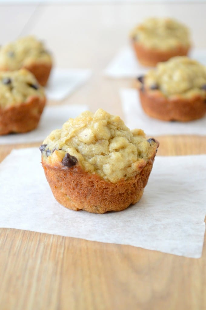 Peanut Butter Banana Chocolate Chip Oatmeal Muffins | The ...