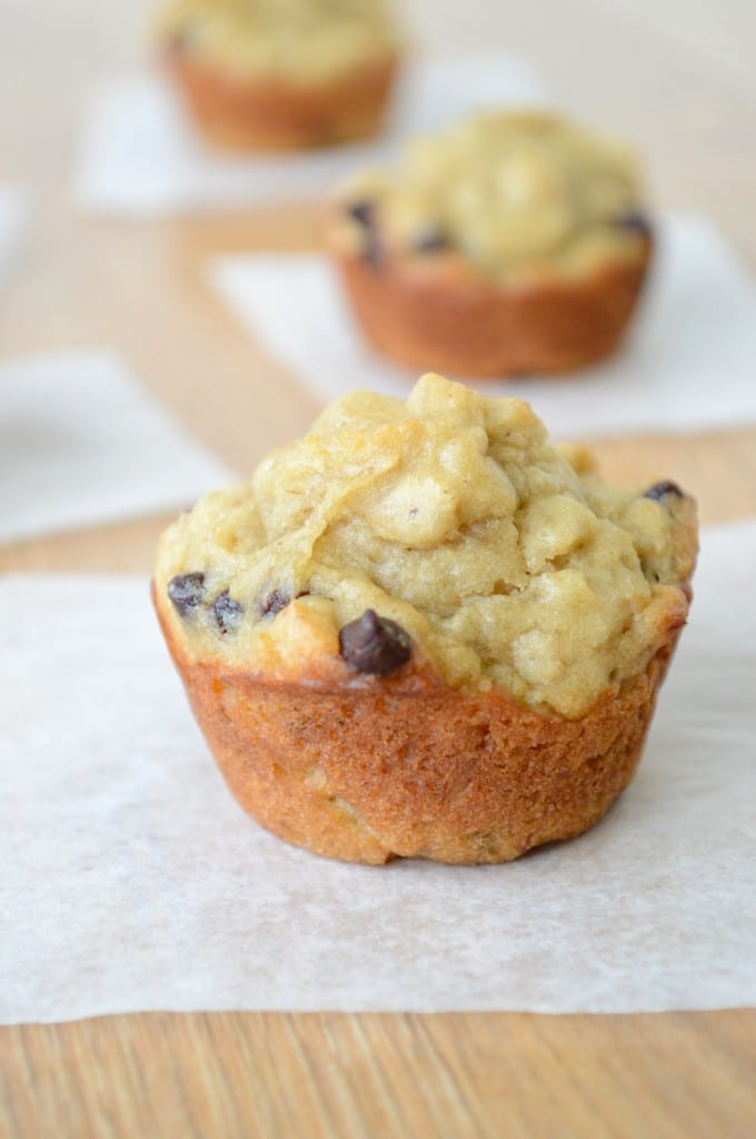 Peanut Butter Banana Chocolate Chip Oatmeal Muffins | The First Year