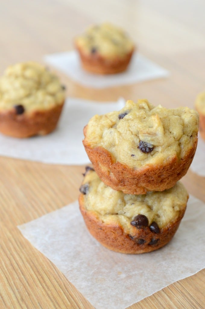 Peanut Butter Banana Chocolate Chip Oatmeal Muffins   The ...