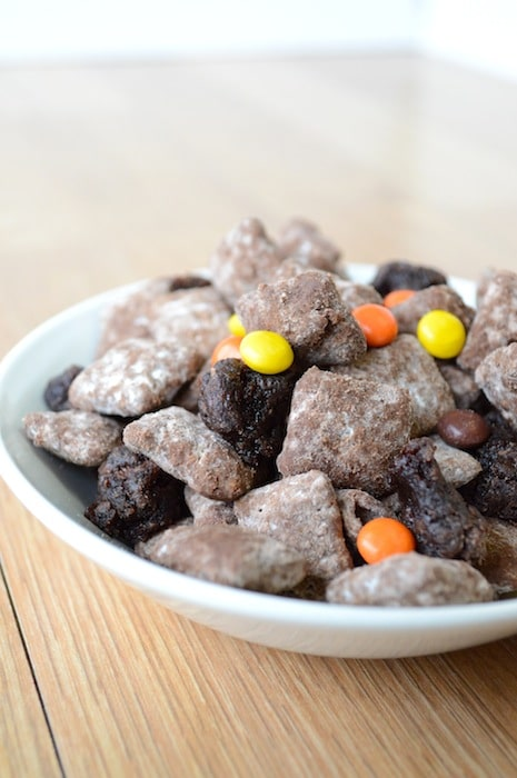 Reeses Pieces Brownie Puppy Chow