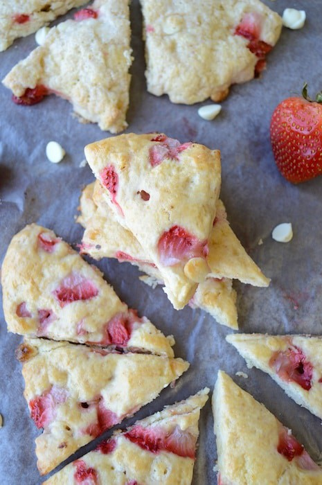 White Chocolate Strawberry Scones 1