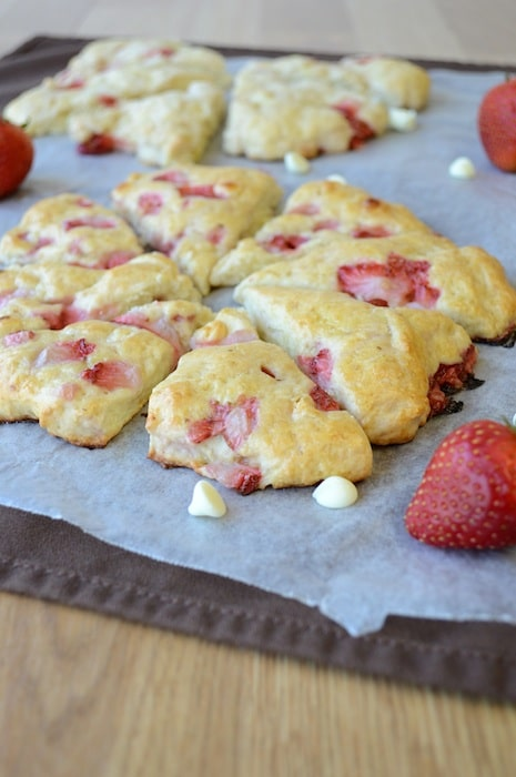 White Chocolate Strawberry Scones