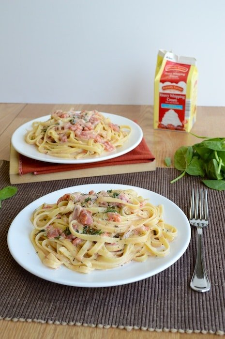 Fettuccine with Tomato Cream Sauce