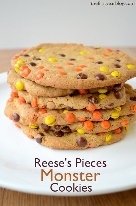 Reeses Pieces Monster Cookies
