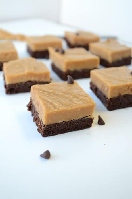 Peanut Butter And Fudge Brownies With Salted Peanuts ...