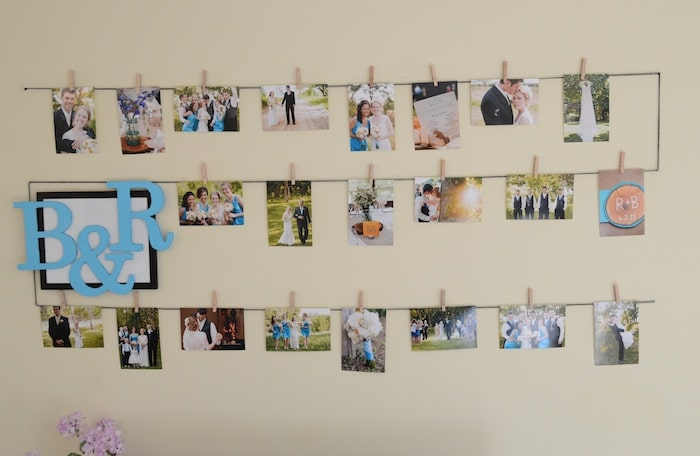 Photo Display Wall The First Year