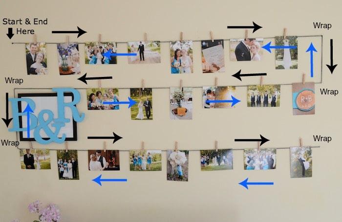 Photo Display Wall J