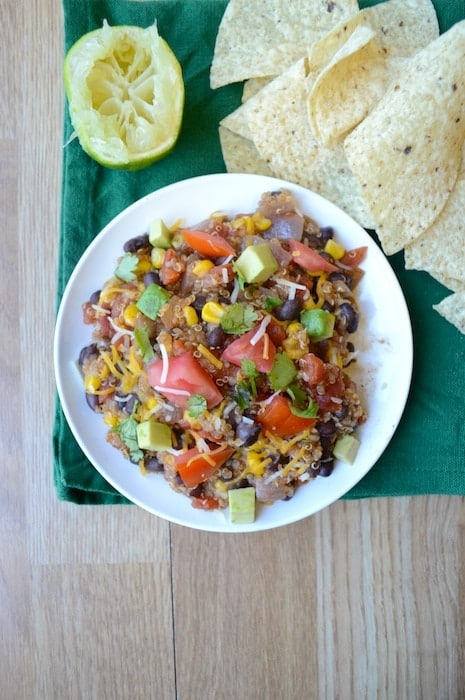 Quinoa Black Bean Tacos or Taco Salad