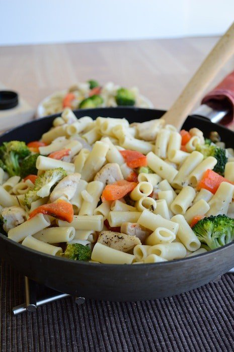 Skillet Ziti with Chicken and Broccoli