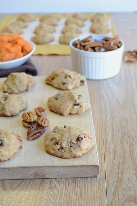 Sweet Potato Raisin Pecan Cookies