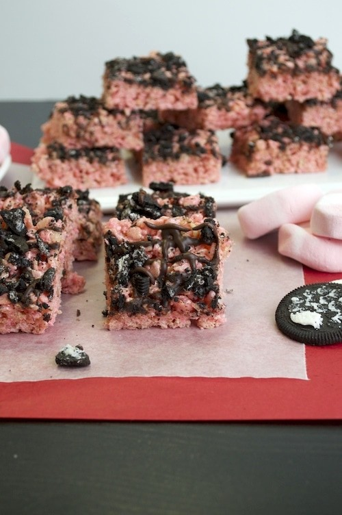 Crushed Oreo Peppermint Rice Krispies