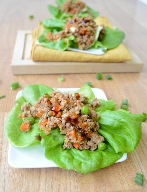 Peanut Asian Lettuce Wraps