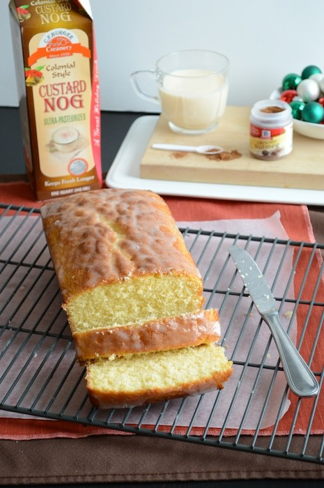 Whipped Eggnog Loaf Cake | The First Year
