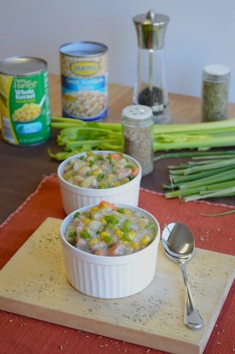 White Bean Potato Ham Soup
