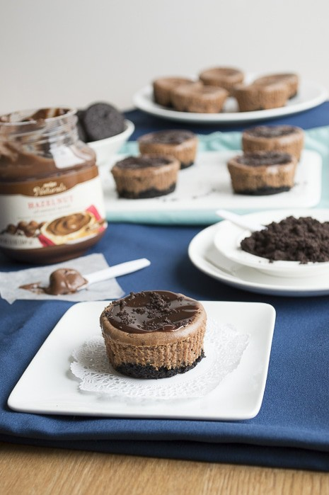 Mini Oreo Nutella Cheesecakes