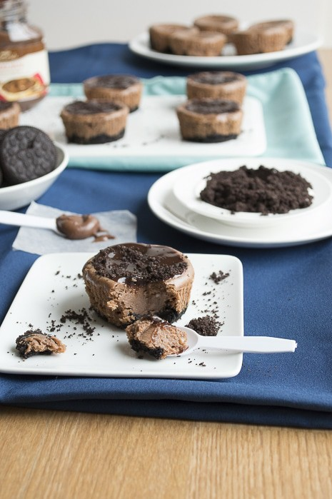 Mini Oreo Nutella Cheesecakes