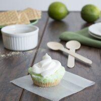 Frozen Lime Graham Cracker Crumb Pies