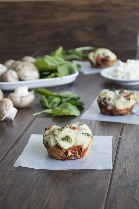 Garden Vegetable and Feta Muffins
