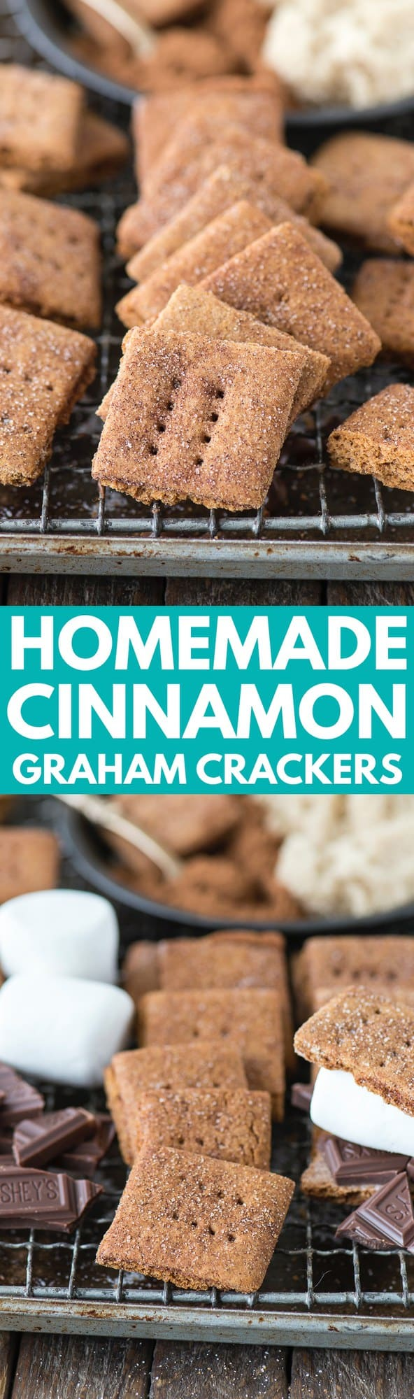 Homemade brown sugar cinnamon graham crackers that are packed with flavor and give store bought grahams a run for their money! Easily make these gluten free with GF all purpose flour!