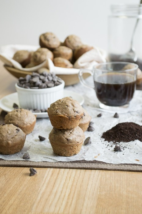 Mocha Chocolate Chip Muffins  | thefirstyearblog.com