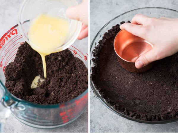 how to make oreo crust collage
