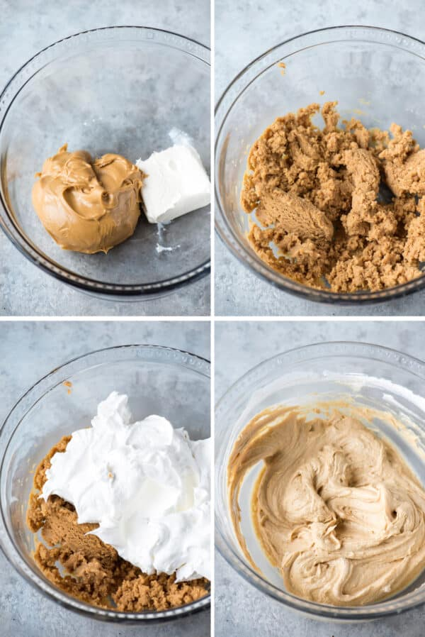 how to make peanut butter pie filling collage