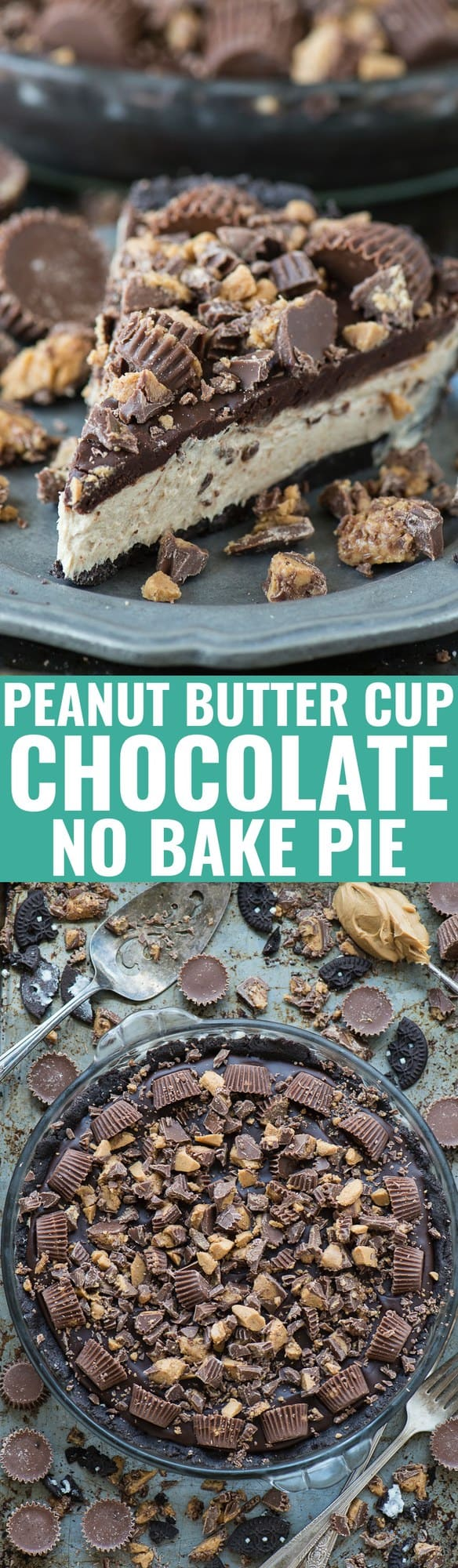 Peanut Butter Cup Chocolate Pie | The First Year