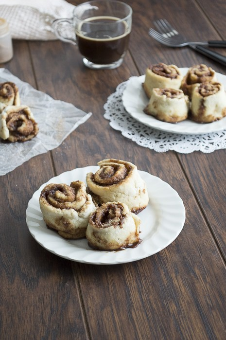 Small Batch Cinnamon Rolls with Espresso Glaze