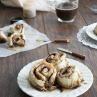 Small Batch Cinnamon Rolls with Espresso Glaze