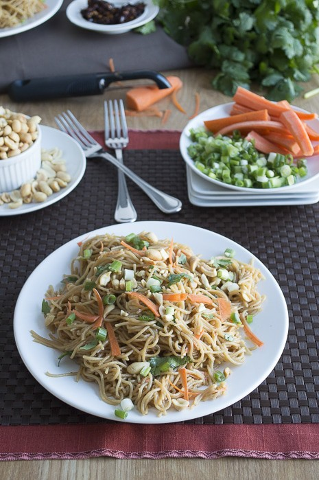 Spicy Thai Pasta with Cilantro & Carrots