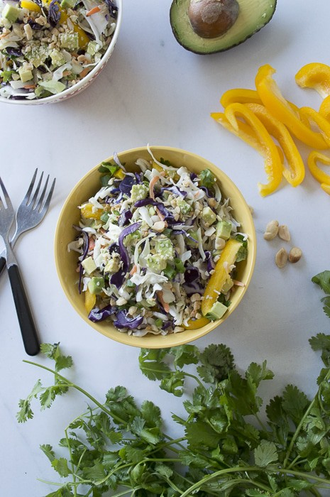 Crunchy Cabbage Asian Salad   thefirstyearblog.com