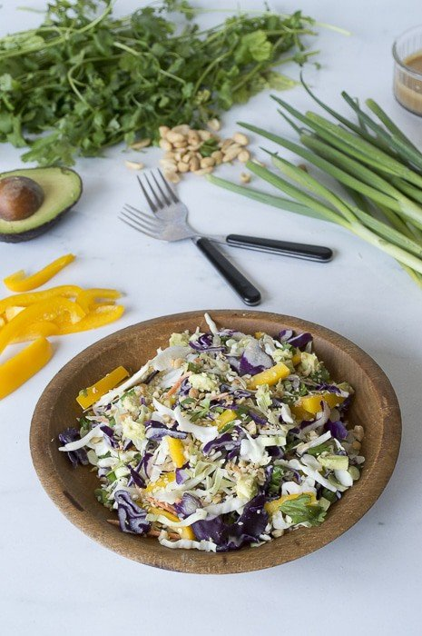 Crunchy Cabbage Asian Salad | thefirstyearblog.com