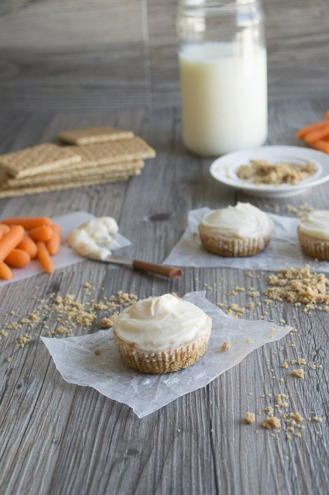 Mini Carrot Cake Cheesecakes with Cream Cheese Frosting and Toasted Coconut