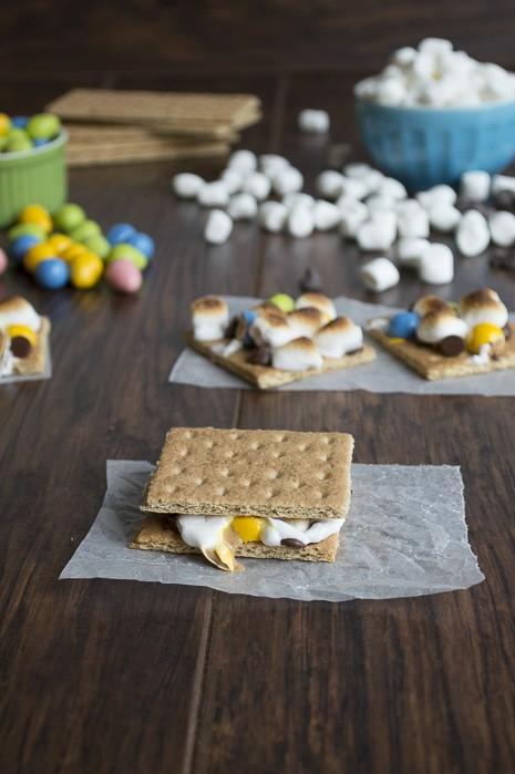 Peanut Butter Egg S'mores