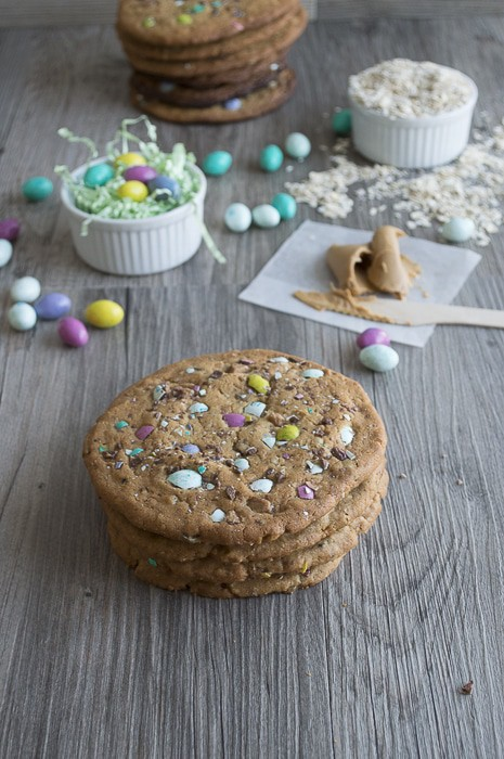 Peanut Butter M&M Monster Cookies