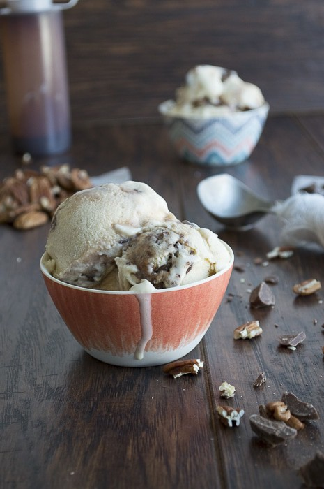 Banana Pecan Chocolate Chunk Hot Fudge Ice Cream | thefirstyearblog.com