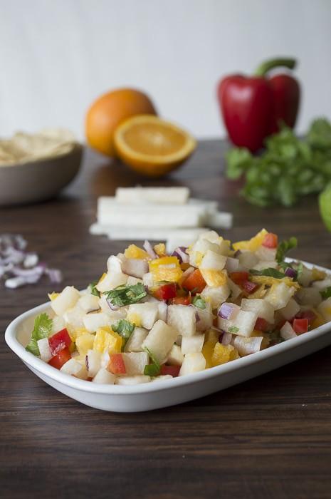 Jicama Citrus Salsa | thefirstyearblog.com