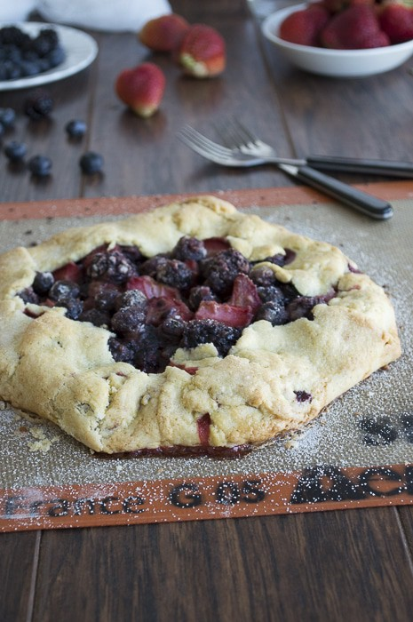 Out of the Pan Triple Berry Pie | thefirstyearblog.com